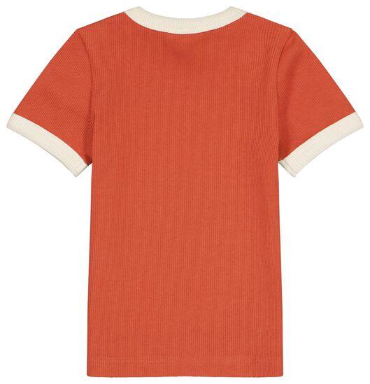 baby t-shirt ribbels rood rood - 1000023452 - HEMA
