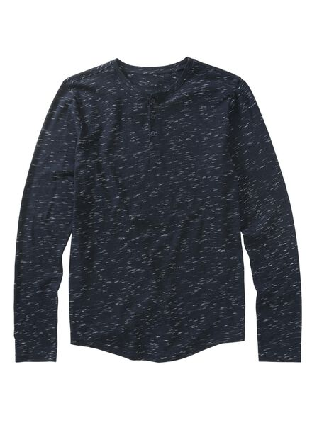 heren t-shirt donkerblauw donkerblauw - 1000009195 - HEMA