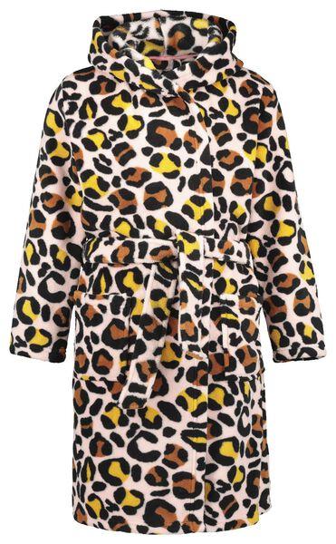 kinderbadjas luipaard roze 158/164 - 23080703 - HEMA