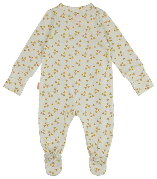 newborn jumpsuit met bamboe wit 56 - 33428233 - HEMA