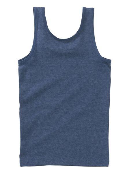 2-pak kinderhemden middenblauw middenblauw - 1000011886 - HEMA