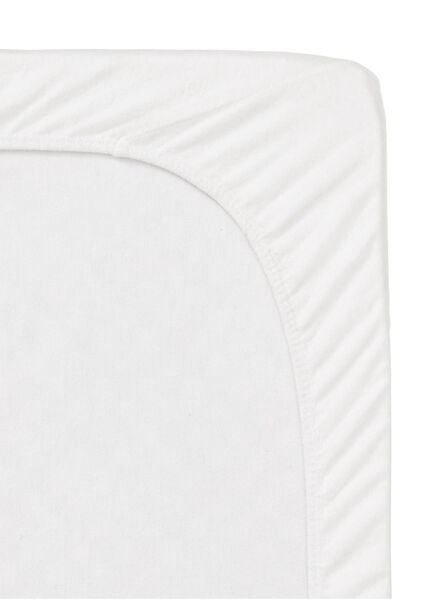 molton hoeslaken - stretch - 160 x 200 cm wit 160 x 200 - 5140102 - HEMA