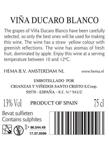 viña ducaro blanco - wit - 17370599 - HEMA
