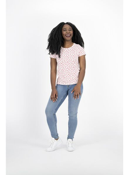 dames t-shirt gebroken wit gebroken wit - 1000014340 - HEMA