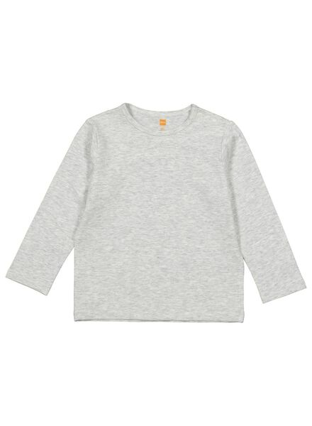 baby t-shirt met bamboe grijsmelange grijsmelange - 1000015092 - HEMA
