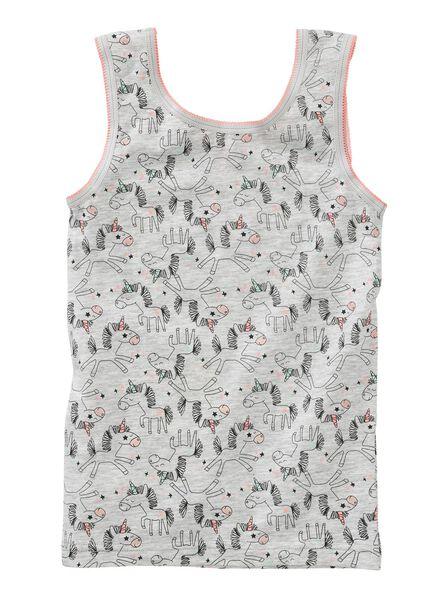 2-pak kinder hemden grijsmelange grijsmelange - 1000001562 - HEMA