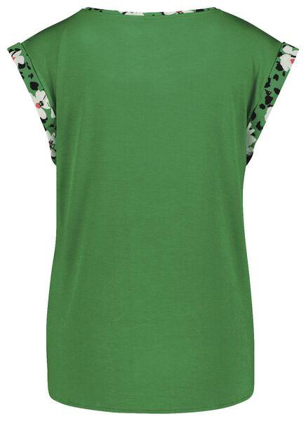 dames top recycled bloemen groen groen - 1000024071 - HEMA