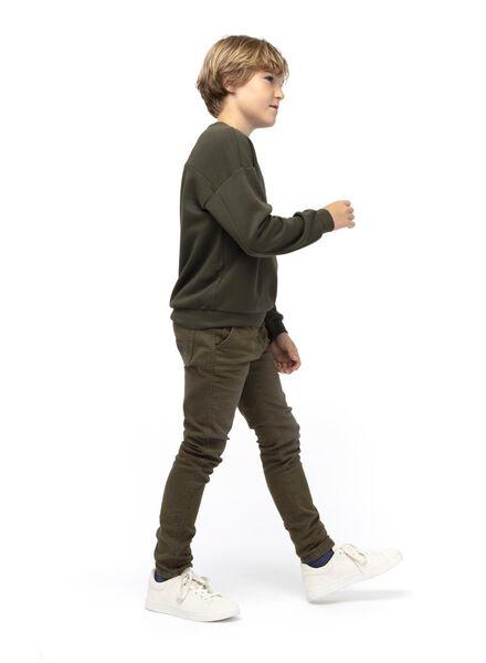 kindersweater donkergroen donkergroen - 1000015021 - HEMA