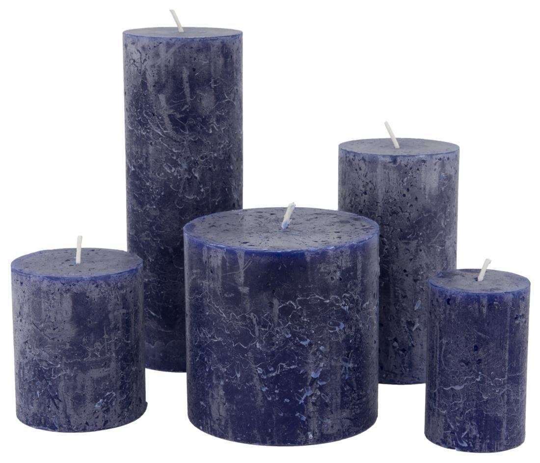 HEMA Rustieke Kaarsen Blauw (blauw)
