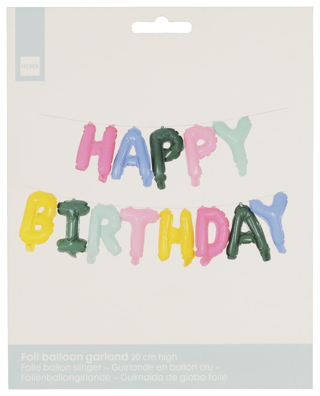 HEMA Folieballon Happy Birthday