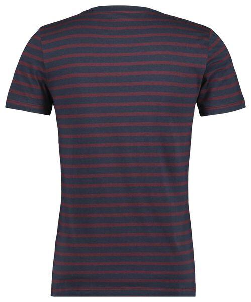 heren t-shirt streep donkerblauw donkerblauw - 1000021507 - HEMA