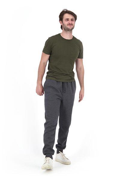 heren sweatbroek grijsmelange XL - 34272683 - HEMA