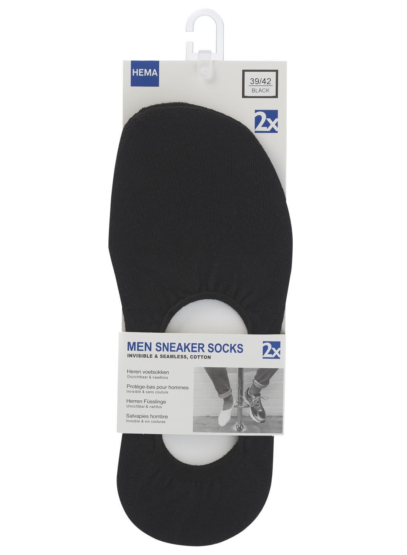 HEMA 2 pak Heren Sneakersokken Zwart (zwart)