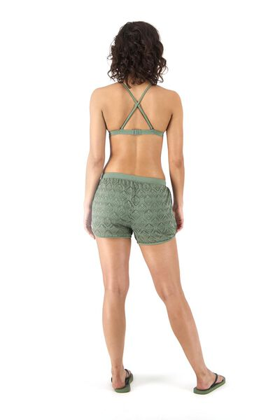 dames padded triangle bikinitop legergroen legergroen - 1000017923 - HEMA