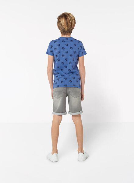 kindershort jogdenim grijs grijs - 1000012045 - HEMA