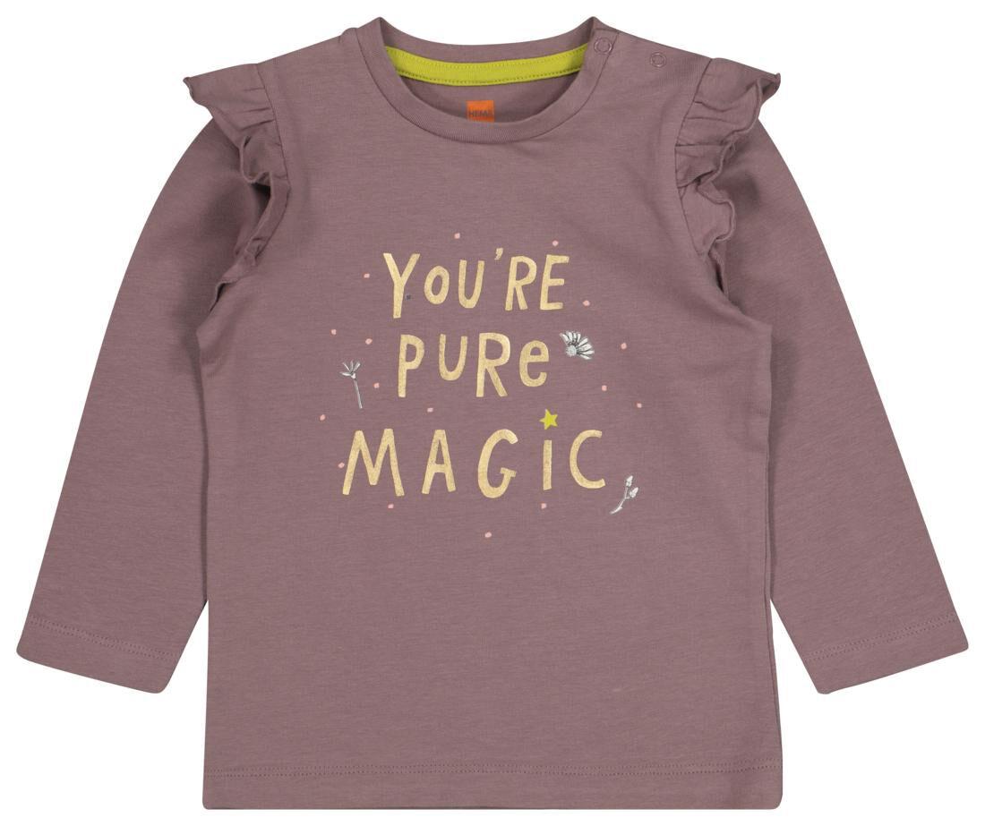 HEMA Baby T-shirt Lila (lila)