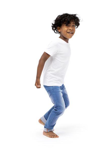 kinder skinny jog denim middenblauw middenblauw - 1000003926 - HEMA
