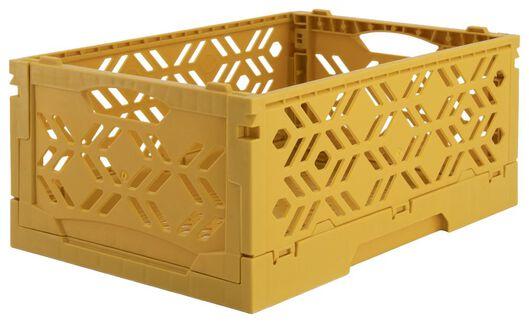 klapkratje recycled 16x24x10 - okergeel - 39821060 - HEMA