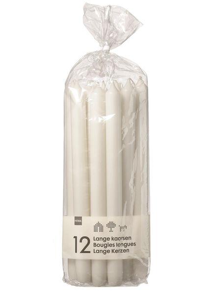 huishoudkaarsen - 29 cm - wit - 12 stuks wit 2.2 x 29 - 13503050 - HEMA