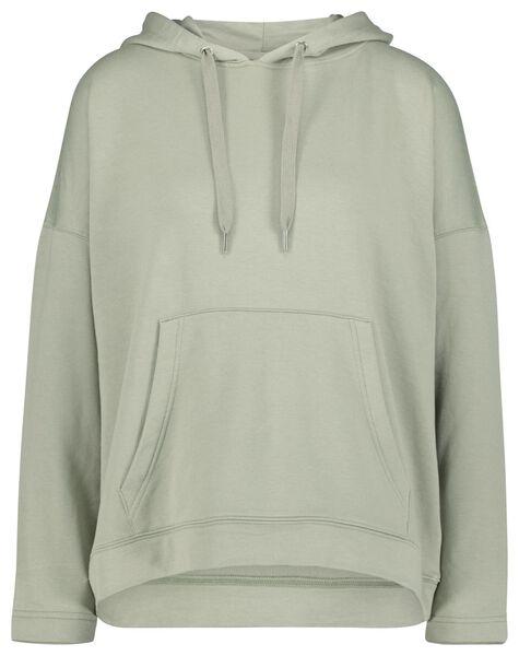 dames capuchonsweater lichtgroen lichtgroen - 1000022533 - HEMA