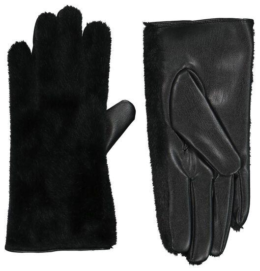 dameshandschoenen touchscreen zwart zwart - 1000020747 - HEMA