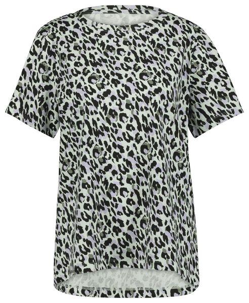 dames t-shirt animal lichtblauw S - 36228086 - HEMA