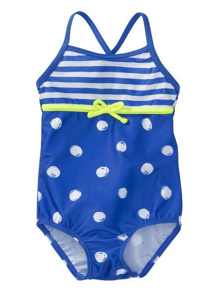 baby meisjes badpak blauw blauw - 1000004814 - HEMA
