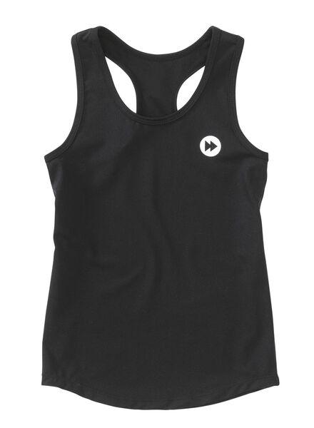 kinder sport top zwart zwart - 1000006313 - HEMA