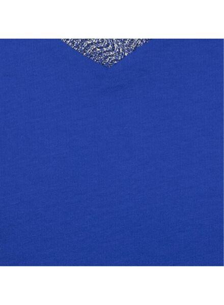 dames t-shirt kobaltblauw kobaltblauw - 1000009390 - HEMA