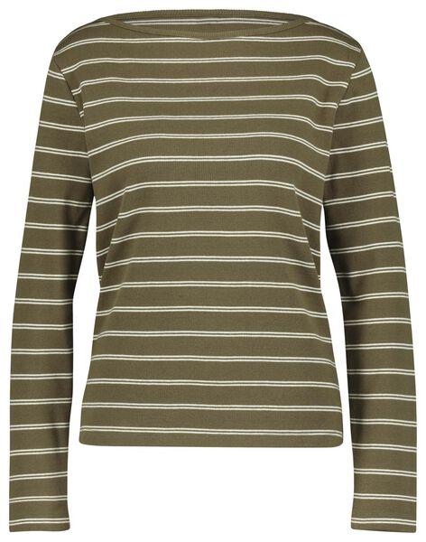 dames t-shirt olijf olijf - 1000018265 - HEMA