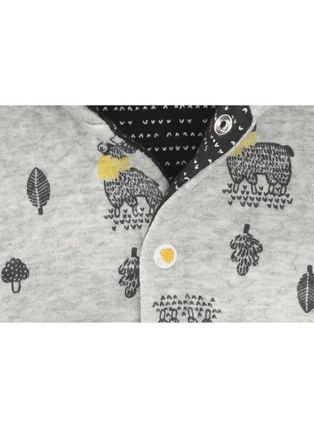 newborn jas grijsmelange grijsmelange - 1000008449 - HEMA