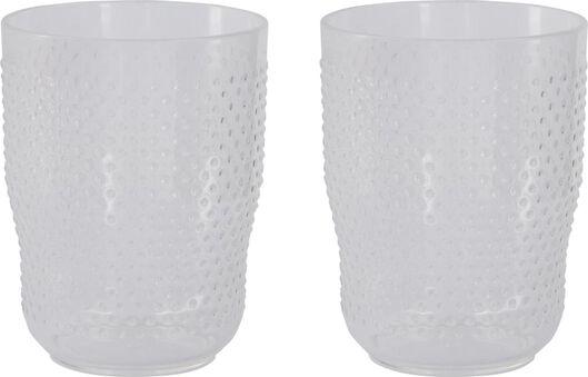 drinkglazen 250ml plastic - 2 stuks - 41820052 - HEMA