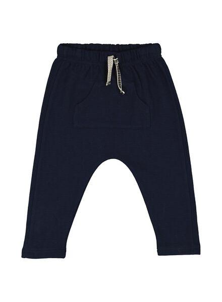baby sweatbroek donkerblauw donkerblauw - 1000014373 - HEMA