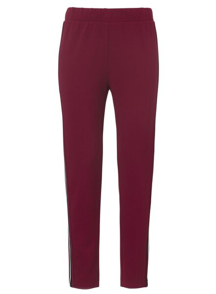 dames joggingbroek donkerrood donkerrood - 1000012460 - HEMA