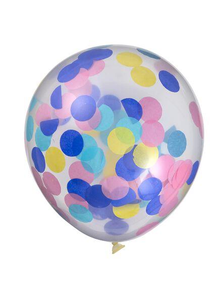 6-pak confetti ballonnen - 14230016 - HEMA