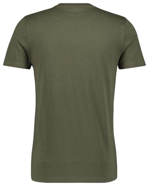 heren t-shirt legergroen legergroen - 1000021412 - HEMA