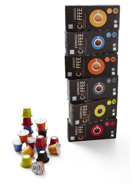 10-pak capsules espresso dark - 17100035 - HEMA