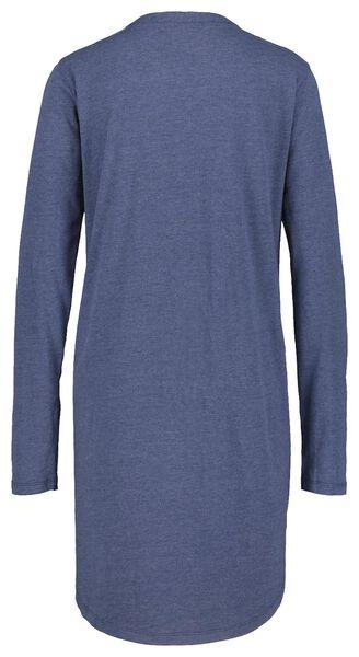 damesnachthemd donkerblauw donkerblauw - 1000021130 - HEMA