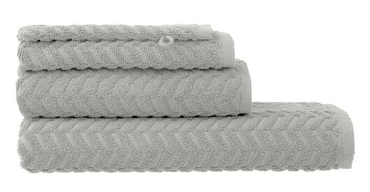 handdoeken - zware kwaliteit - zigzag lichtgrijs lichtgrijs - 1000015146 - HEMA