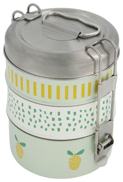 lunchbox tiffin 3-delig rvs - 41540029 - HEMA