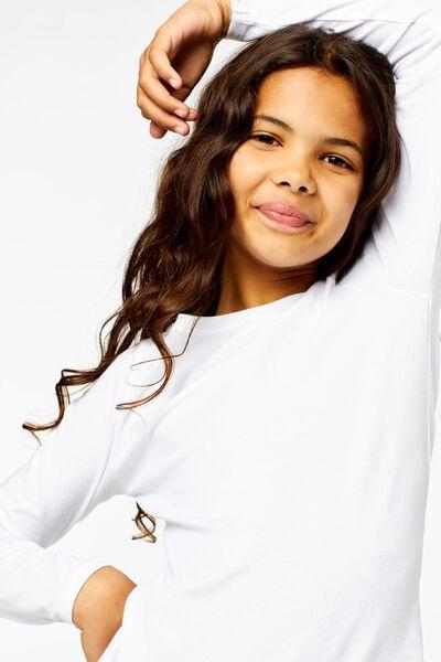 kinder t-shirts - 2 stuks wit wit - 1000013796 - HEMA