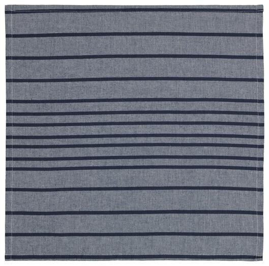servetten 47x47 chambray katoen blauw - 2 stuks - 5300113 - HEMA