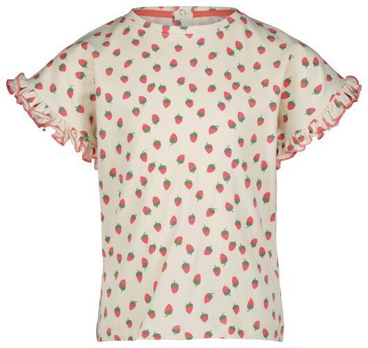 kinder t-shirt gebroken wit gebroken wit - 1000023700 - HEMA