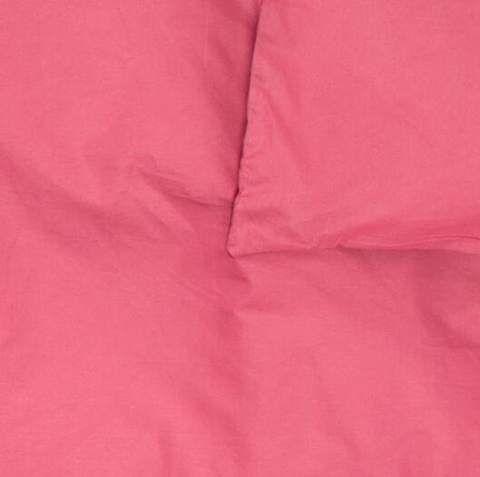 dekbedovertrek - 200 x 200/220 - zacht katoen - roze - 5790069 - HEMA