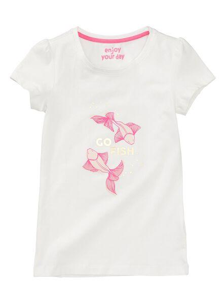 kinder t-shirt gebroken wit gebroken wit - 1000007460 - HEMA