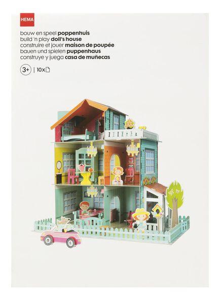 10-delig bouw en speel poppenhuis - 15920181 - HEMA