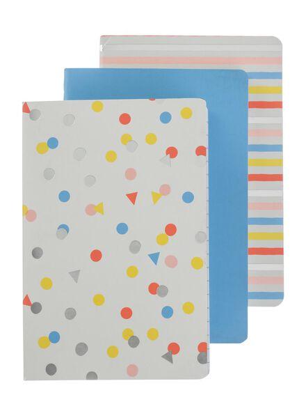 3-pak A6 notitieboekjes - 14101234 - HEMA