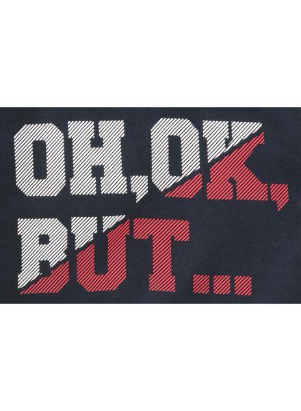 kinder t-shirt donkerblauw donkerblauw - 1000011241 - HEMA
