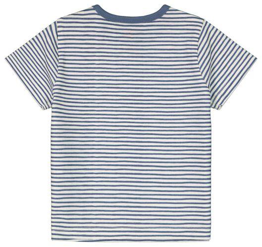 baby t-shirt strepen gebroken wit 80 - 33113644 - HEMA