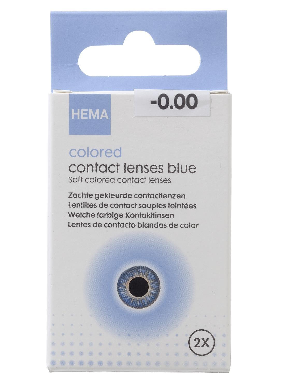 HEMA Gekleurde Contactlenzen - Blauw (blauw)